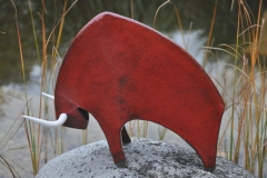 Stier aus Keramik